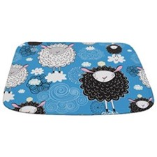 Whimsical Sheep Bathmat