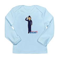 Air Force Dress Blues Dark Long Sleeve Infant T-Sh