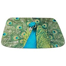 Beautiful Peacock Bathmat