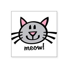 Gray Meow Sticker