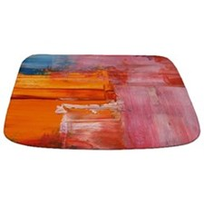 Abstract Brushstrokes Bathmat