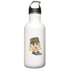Air Force Camo Head Blonde Water Bottle
