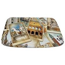 Italy Photo Collage Bathmat