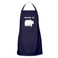 Custom Bear Silhouette Apron (dark)