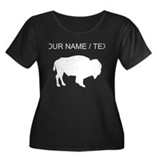 Custom Buffalo Silhouette Plus Size T-Shirt