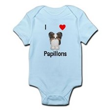 I Love Papillons (pic) Infant Bodysuit