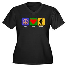 Peace Love Bigfoot Plus Size T-Shirt