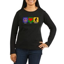 Peace Love Bigfoot Long Sleeve T-Shirt