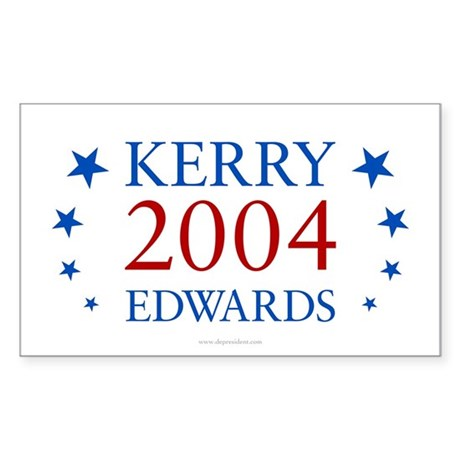 Kerry Edwards 2004 Rectangle Sticker