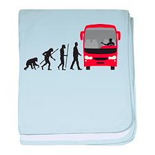 evolution of man bus driver baby blanket