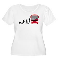 evolution of man bus driver Plus Size T-Shirt