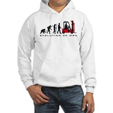 evolution of man forklift driver Hoodie