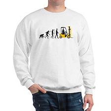 evolution of man forklift driver Sweatshirt