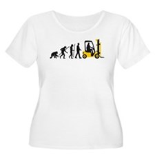 evolution of man forklift driver Plus Size T-Shirt