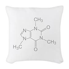 Caffeine Molecule Woven Throw Pillow