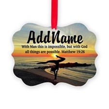 GYMNAST MATTHEW 19:26 Ornament