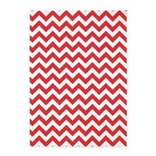 Poppy Red and White ZigZag 5'x7'Area Rug