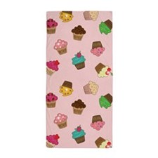Sparkly Cupcakes Beach Towel