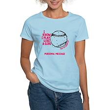 Personalized Softball Girl T-Shirt