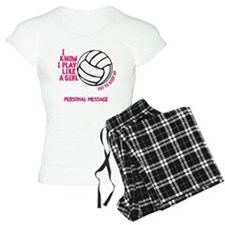 Personalized Volleyball Girl Pajamas