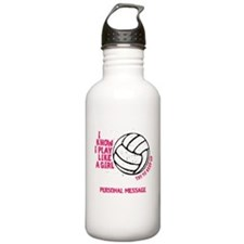 Personalized Volleyball Girl Water Bottle