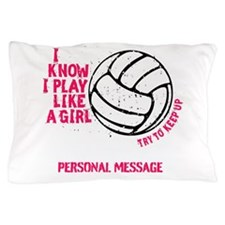 Personalized Volleyball Girl Pillow Case