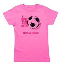 Personalized Soccer Girl Girl's Tee