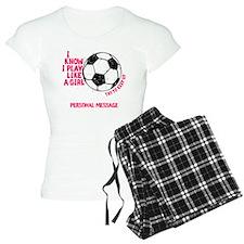 Personalized Soccer Girl Pajamas
