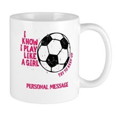 Personalized Soccer Girl Coffee Mug