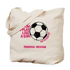 Personalized Soccer Girl Tote Bag