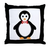 boy penguin Throw Pillow
