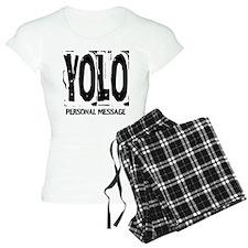 Personalized YOLO pajamas