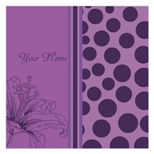 Purple Polka Dots Orchids - Personalized Invitations