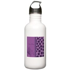 Purple Polka Dots Orchids - Personalized Water Bottle