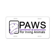 Paws logo (new, large) Aluminum License Plate