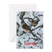 Tufted Titmouse Chickadee Greeting Cards