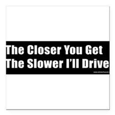 "Cute Tailgate Square Car Magnet 3"" x 3"""