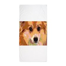 Corgi Reflection Beach Towel