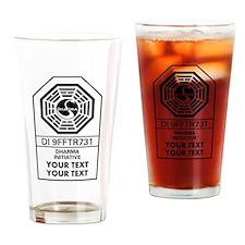 Custom Dharma Label Drinking Glass