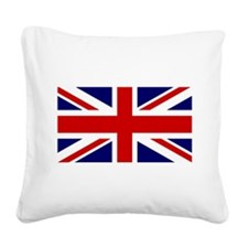 Union Jack Flag of the United Square Canvas Pillow