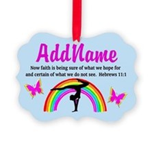 GYMNAST HEBREWS 11:1 Ornament
