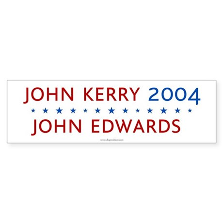 Kerry Edwards 2004. Bumper Sticker