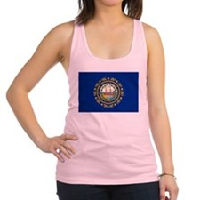 New Hampshire flag Racerback Tank Top