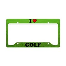 LICENSE PLATE HOLDER - I LOVE GOLF