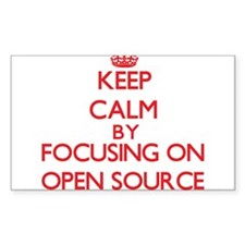Keep calm by focusing on on Open Source Decal