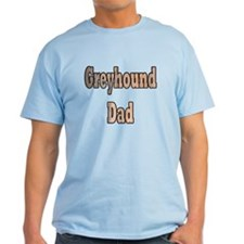 GREYHOUND DAD LIGHT BLUE TEE