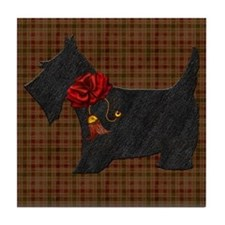 Harvest Moons Scottie Tile Coaster
