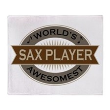 Awesome Sax Player Throw Blanket