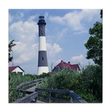 Fire Island Lighthouse Tile Coaster