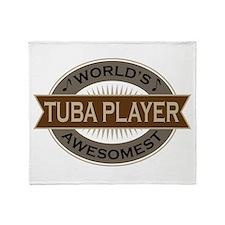 Awesome Tuba Player Throw Blanket
